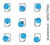 vector illustration of 9 file...