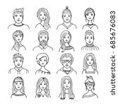 vector set of different male... | Shutterstock .eps vector #685676083