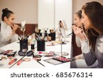 school of makeup. | Shutterstock . vector #685676314