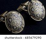 vintage men's cufflinks with... | Shutterstock . vector #685679290