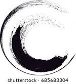 curved brush stroke . vector... | Shutterstock .eps vector #685683304