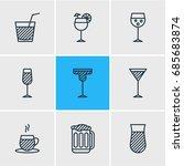 vector illustration of 9... | Shutterstock .eps vector #685683874