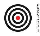 circle of target. archery... | Shutterstock .eps vector #685684270