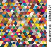 abstract geometric colorful... | Shutterstock . vector #685686529