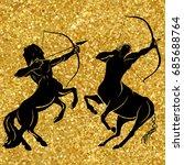 gold centaur concept of...