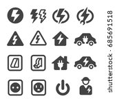 electric electronic icon | Shutterstock .eps vector #685691518