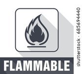 flammable symbol. fire icon.... | Shutterstock .eps vector #685694440