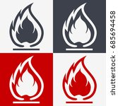 flammable symbol. fire icon.... | Shutterstock .eps vector #685694458