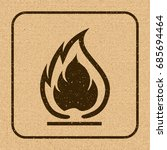 flammable symbol. fire icon.... | Shutterstock .eps vector #685694464