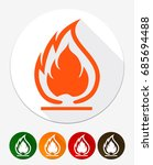 flammable symbol. fire icon.... | Shutterstock .eps vector #685694488