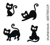 vector set of cute cats on...   Shutterstock .eps vector #685700119