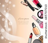 cosmetic background. | Shutterstock .eps vector #685707010