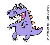 Wild Purple Cartoon Dragon....