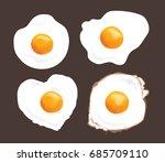 fried egg vector design   Shutterstock .eps vector #685709110