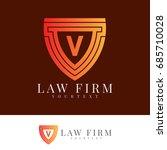 law firm initial letter v logo... | Shutterstock .eps vector #685710028