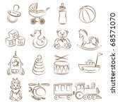 set of children's toys | Shutterstock .eps vector #68571070