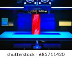 3d printer works and creates an ... | Shutterstock . vector #685711420