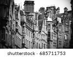 Old Facades In Edinburgh Street