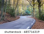 mountain road in montseny ...   Shutterstock . vector #685716319