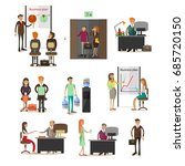 set of office people characters ... | Shutterstock . vector #685720150