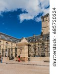 Small photo of DIJON, FRANCE - JUNE 15, 2016: Palace of the Dukes and Estates of Burgundy (now art museum and city hall) - well-preserved architectural assemblage at Place de la Liberation.