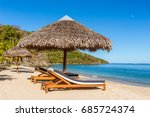 Tropical Beach Landscape With...