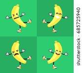 banana vector with emoticon   Shutterstock .eps vector #685725940