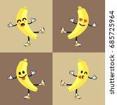 banana vector with emoticon   Shutterstock .eps vector #685725964