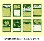 set of vector abstract green... | Shutterstock .eps vector #685731976