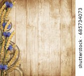 wild flowers with spikelets on... | Shutterstock . vector #685734073