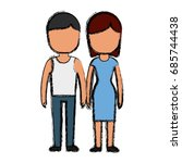 couple of man and woman icon | Shutterstock .eps vector #685744438