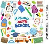 set of different school... | Shutterstock .eps vector #685744858