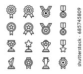 award icons outline | Shutterstock .eps vector #685745809