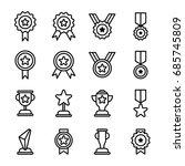 award icons outline   Shutterstock .eps vector #685745809