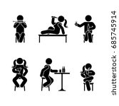 man people various sitting ... | Shutterstock . vector #685745914
