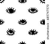 seamless pattern with eyes and... | Shutterstock .eps vector #685747570