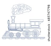 vintage steam locomotive vector ...   Shutterstock .eps vector #685747798
