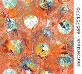 vintage grunge pattern in... | Shutterstock .eps vector #685751770