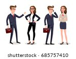 business people with documents... | Shutterstock .eps vector #685757410
