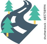 road vector icon  | Shutterstock .eps vector #685758994