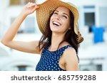 portrait of a beautiful woman... | Shutterstock . vector #685759288