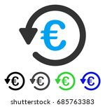 euro rebate flat vector icon.... | Shutterstock .eps vector #685763383