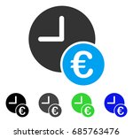 euro recurring payments flat... | Shutterstock .eps vector #685763476