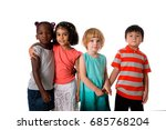 group of multiracial kids... | Shutterstock . vector #685768204