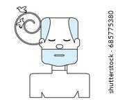 man listening birds | Shutterstock .eps vector #685775380