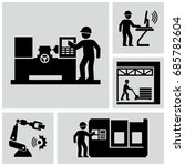 industrial work vector icons... | Shutterstock .eps vector #685782604