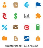 set of icons for business.... | Shutterstock . vector #68578732