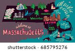 illustrated map of...   Shutterstock .eps vector #685795276