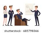 business people teamwork ... | Shutterstock .eps vector #685798366