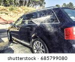 high pressure washing car... | Shutterstock . vector #685799080